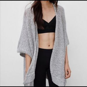 Artiza Community | Grey Knit Cape Sweater